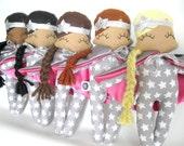 Dolly Daredevil Rag Doll - MADE TO ORDER