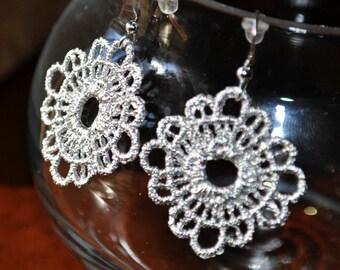 Silver Lace Dangle Earrings jewelry under 25