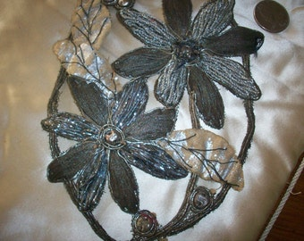 Very unique metal embroidered french appliqué