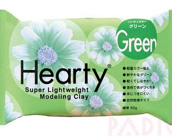 Padico Green Hearty clay super lightweight from Japan (50g) - Figurines / Doll / Flower / Miniature Food 303156