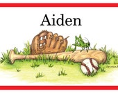 Personalized Placemat, kids placemat, kitchen placemat, monogram, Family placemat, home decor Baseball, Sports, kids