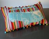 Campervan Rainbow Stripe Crewel Modern Cross Stitch Kit