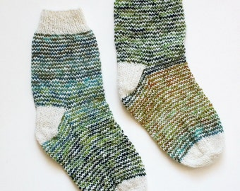 Prairie Striped Hand-Knit Women's Socks Size 7.5 - 8 - 8.5