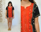 Ethnic Boho Shirt  //  70s Embroidered Top  //  INDIAN FLARE