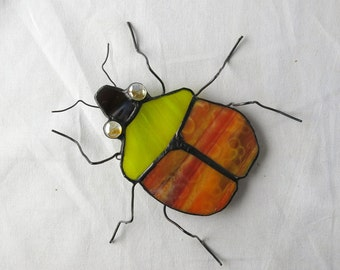 Stained Glass Beetle Suncatcher