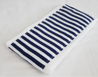 Navy Stripe Baby Burp Cloth