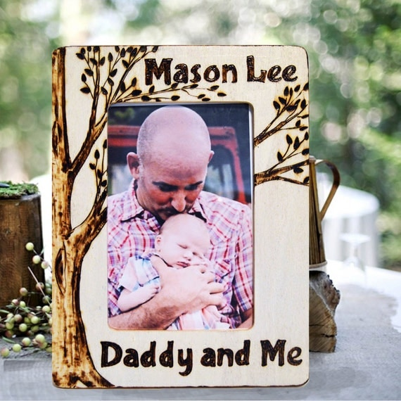 Daddy And Me Picture Frame Wood Burned Personalized From