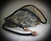 Copper or Silver Handmade Black Cord Chain Necklace