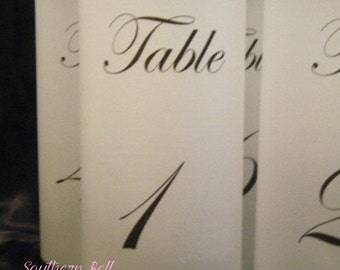 Table Number Luminaries - Set of 12- Ready to Ship