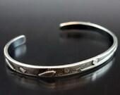 Unique Handmade Silver cuff bracelet,  Silver Cuff Bracelet, Silver Cuff ,Rustic Jewelry, Handmade Bracelet, Mens Cuff, Large Wrist Size