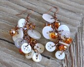 Vintage Button Collage Earrings
