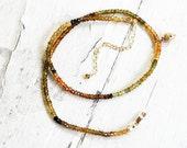 Autumn Tourmaline Splendor Necklace on Gold Filled Chain