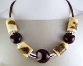 Porcelain Statement Necklace. Bold Design. Reserved for Lee