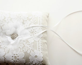 Lace Ring Bearer Pillow, Ring Pillow, Ring Cushion