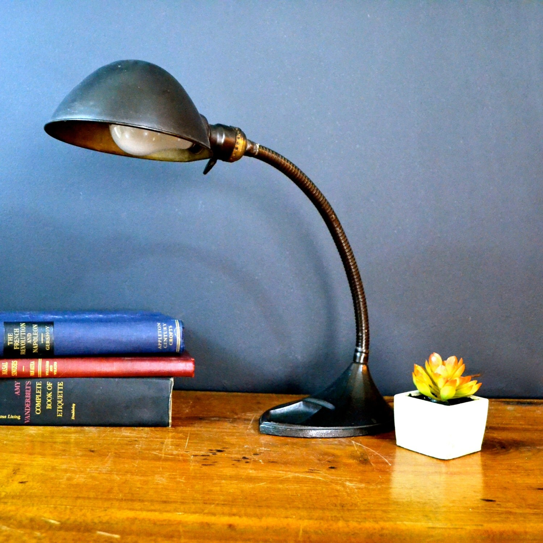 Vintage industrial art deco desk lamp dark by - Deco vintage industriel ...