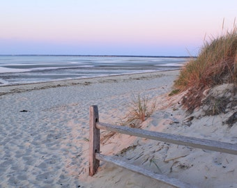 Beach Photography, Cape Cod Photography, Sunset Photo, Beachscape, Seascape, Brewster MA, Cape Cod Bay, Wall Art, Home Decor, Crosby Beach
