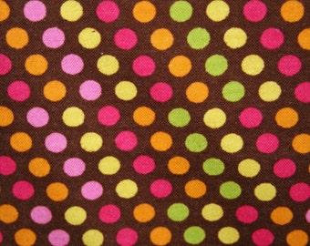 Brown Dot Party Flannel Pillowcase