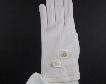 Childrens Vintage White Dress Gloves - Size 4 to 5 - 6-1/4 inches long(26ch)