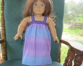 American Girl nightgown, purple dress for 18 inch doll
