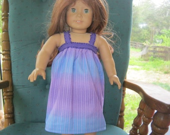 18 Inch doll nightgown, purple dress for 18 inch doll