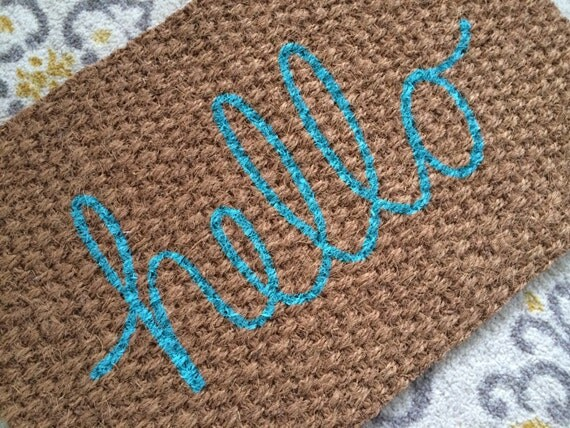 cute welcome mats hello welcome mat doormats for by sweetsiennadesigns 3070