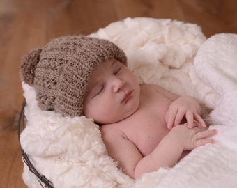 Baby Pom-Pom Hat. Baby Hat.  Baby Beanie KNITTING PATTERN PDF