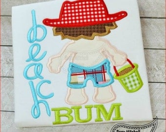 Beach Bum boy applique