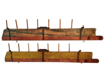 Mid-1800s Primitive Horse-drawn Farm Field Tillers from Maine (pair)