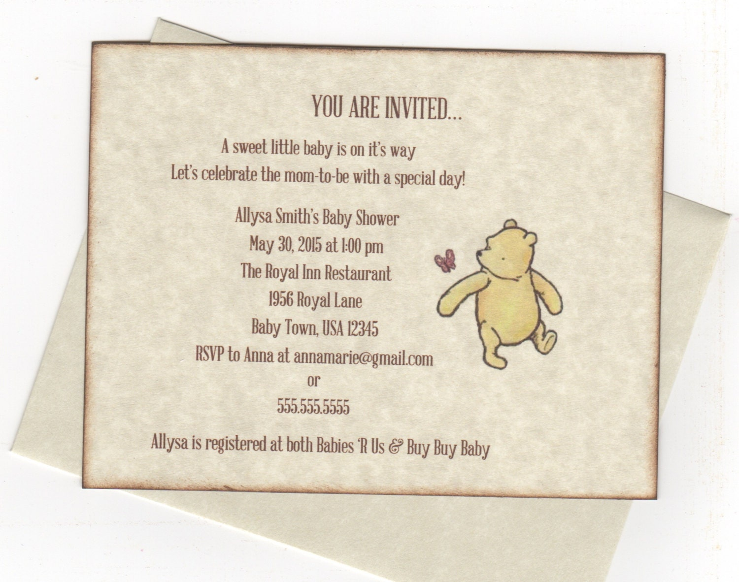 winnie the pooh invitations baby shower christening