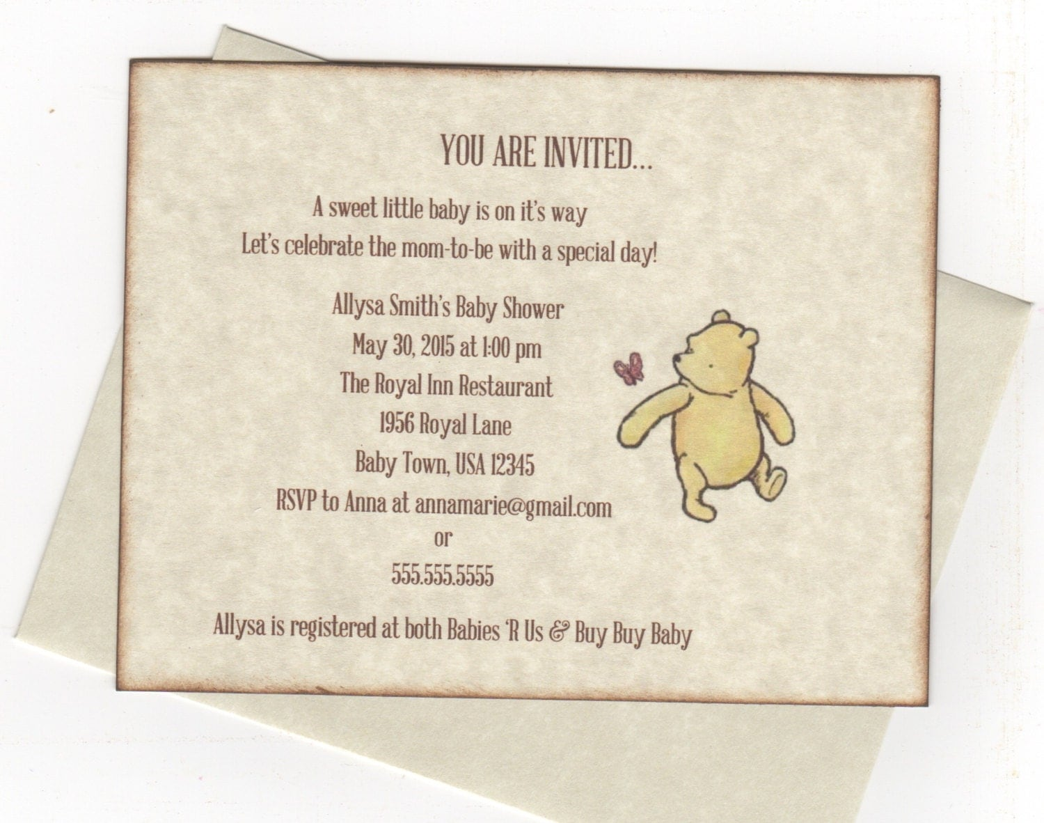 Winnie The Pooh Baby Shower Invitation was great invitation example