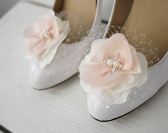 Custom Shoe Clips, Bridal Shoe Clips, Bridesmaid Shoe Clips - Your choice of colors