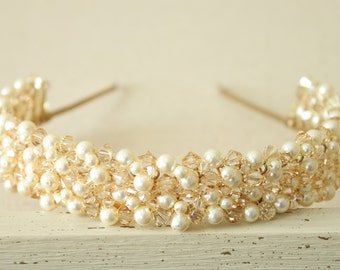 Swarovski Pearl and Crystal Luxe Headband-Style No.HB306