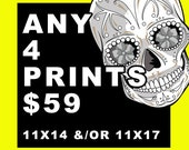 Any 4 11x14 &/or 11x17 prints