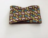 Washable, Reusable Male Dog Belly Band - Dog Diaper - Brown with Bones - Available in all sizes