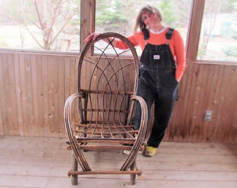 Rustic Willow Bentwood Chair