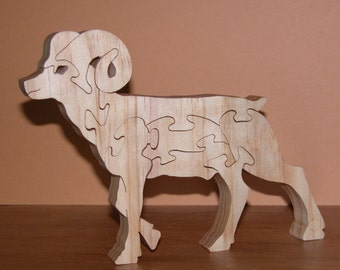 Home Decor - Animal Puzzle - Bighorn Sheep for Home or Office Decor