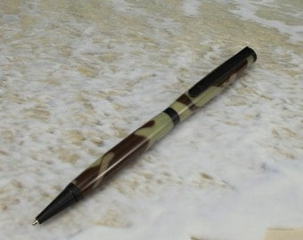 Desert Camo Pen with Tactical Black Rubberized Hardware