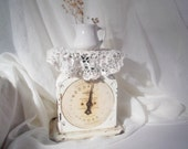 Old White Scale Shabby Cottage Chic Decor Farmhouse Scale
