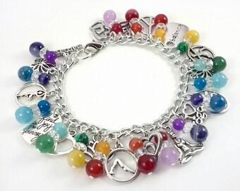 Joyful Heart Yoga Charm Bracelet