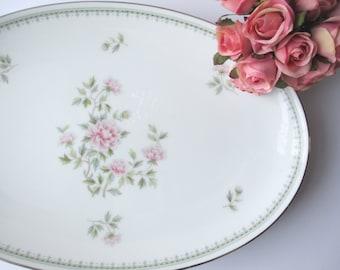 Vintage Noritake Jardine Pink Floral Serving Platter