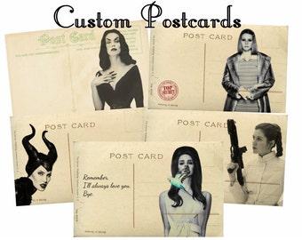 Custom Vintage Upcycled Postcards