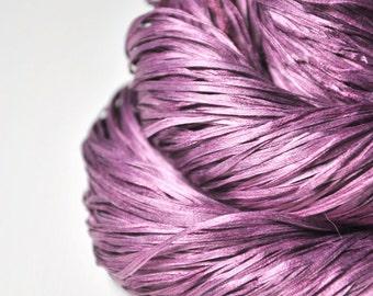 Heart of the companion cube OOAK - Silk Tape Lace Yarn - SUMMER EDITION