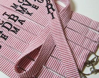 Design Your Own Seersucker – Personalized Lanyard – ID Badge Holder – Monogrammed – Key Strap
