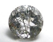 Rutilated Quartz 6mm Loose Gemstone Brilliant Round Calibrated Engagement Ring Stone Black Strand Rutile Hand Cut Clear Crystal ONE