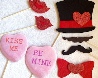 Choose Your Own Wedding Valentine Love Photo Booth Props A