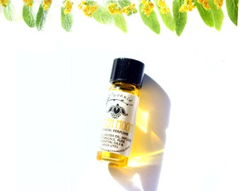Linden Moon Botanical Perfume Oil - Intoxicating Linden, Jasmine and Woods - Artisan Botanical Perfume - 1ml
