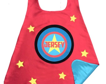Personalized SUPER STAR SUPERHERO Cape - Full Name - Superkid Capes Original - Fast Shipping - Easter Ready