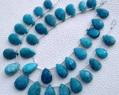 AAA Quality Brand New, Rare BLUE CHRYSOCOLLA Faceted Pear,12-15mm size,Superb Gem Stone