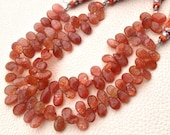 New Arrival,Gorgeous Sparking SUNSTONE Smooth Pear Shape Briolettes,10-12mm, Full 8 Inch Strand, Great Item at Low Price