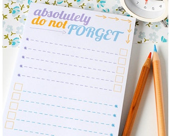 List Note Pad – Do Not Forget – Planner Pad – Jotter – List Notepad – Organiser – Shopping List – Eco-friendly stationery